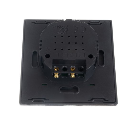 Intrerupator Single touch, Sticla, 8.6 x 8.6 x 3.3 cm, Negru [2]