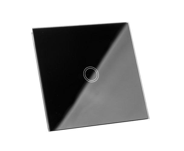 Intrerupator Single touch, Sticla, 8.6 x 8.6 x 3.3 cm, Negru [5]