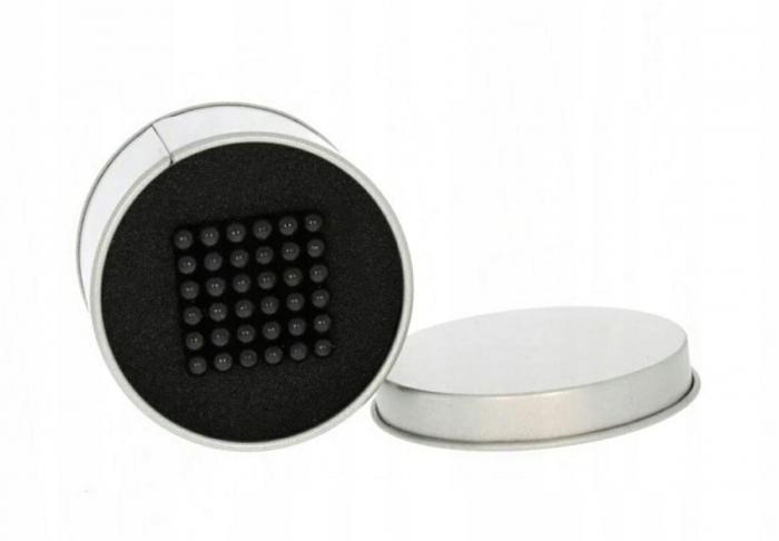 Joc Puzzle Antistres cu Bile Magnetice 216 Bucati, Diametru Bile 3mm,negru 3