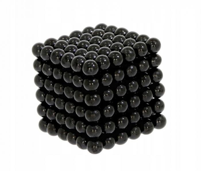 Joc Puzzle Antistres cu Bile Magnetice 216 Bucati, Diametru Bile 3mm,negru 0