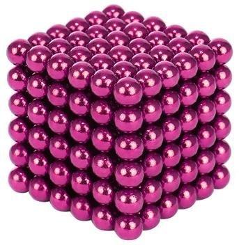 Joc Puzzle Antistres cu Bile Magnetice 216 Bucati, Diametru Bile 5mm culoare Roz [0]