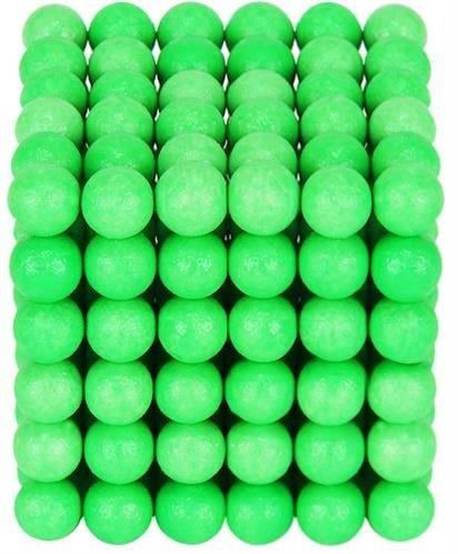 Joc Puzzle Antistres  cu Bile Magnetice 216 Bucati, Diametru Bile 5mm verde fluorescent [1]