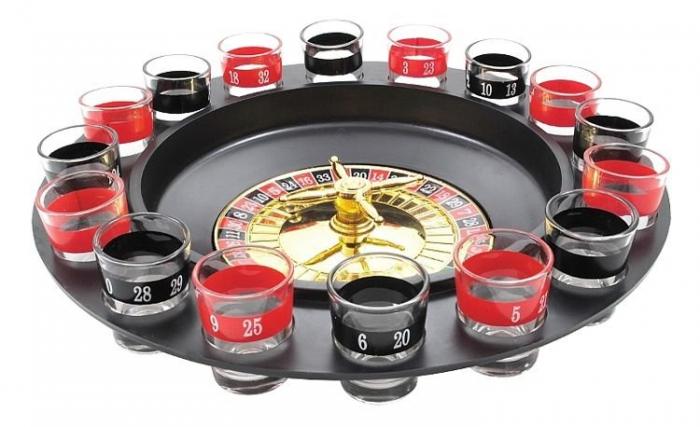 Joc Ruleta Iso trade cu pahare de shot-uri, multicolor, 29 cm diametru, 16 pahare [0]