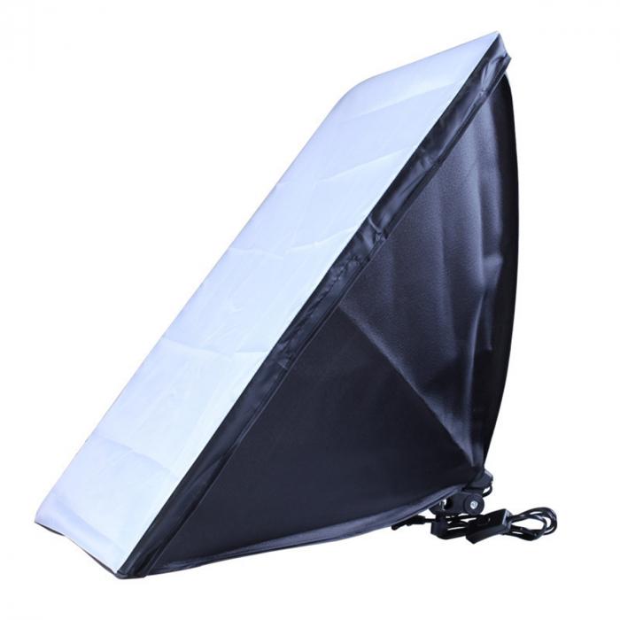 Kit Lumina Continua Softbox 70x50cm pentru Studio Foto cu 1 filtru difuzie si Suport Trepied Reglabil 78-230cm [6]