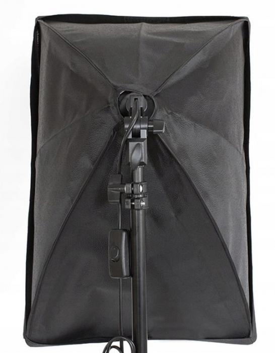 Kit Lumina Continua Softbox 70x50cm pentru Studio Foto cu 1 filtru difuzie si Suport Trepied Reglabil 78-230cm [2]