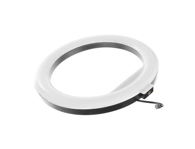 Lampa foto circulara LED cu telecomanda, lumina calda/rece/neutra  + Trepied cu Inaltime Reglabila Suport pentru Telefon si Aparat Foto [9]