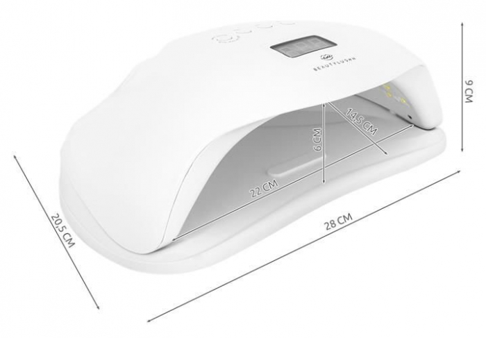 Lampa LED UV  unghii profesionala pentru manichiura, 36 LED-uri, cu senzor de miscare si timer, 72w, alb 10 clipsuri gel gratuit [6]