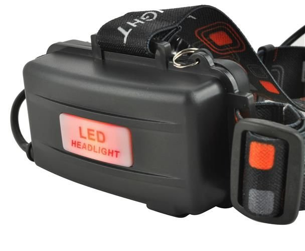 Lanterna de cap frontala CREE 3 leduri reincarcabila 220V +12V + reglabila 4 moduri 5