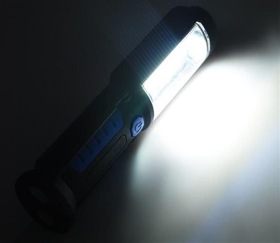Lanterna led de lucru pentru atelier 3W cu suport magnetic si carlig lampa 9