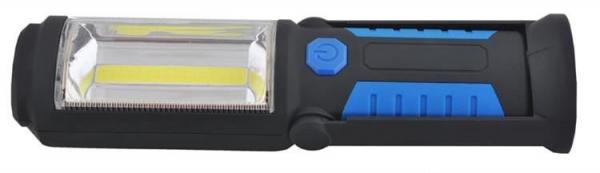 Lanterna led de lucru pentru atelier 3W cu suport magnetic si carlig lampa 1