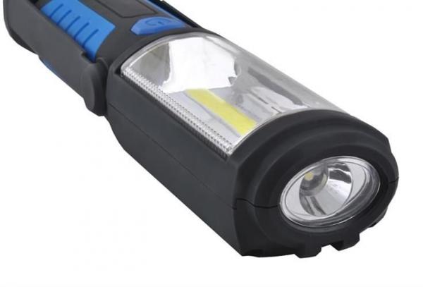 Lanterna led de lucru pentru atelier 3W cu suport magnetic si carlig lampa 10