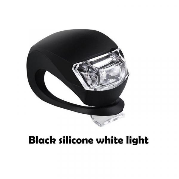 Lumini LED siguranta bicicleta, 3 moduri iluminare, silicon, set 2 piese [2]