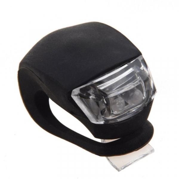 Lumini LED siguranta bicicleta, 3 moduri iluminare, silicon, set 2 piese [1]