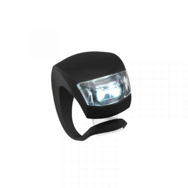 Lumini LED siguranta bicicleta, 3 moduri iluminare, silicon, set 2 piese [3]