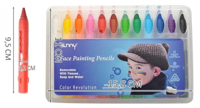 Make up pictura fata copii petrecere set 12 culori non alergice [8]