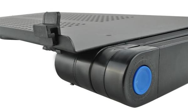 Masuta rabatabila pentru laptop inălțime reglabilă USB cooler răcire 27X48 cm  cu  Mouse  Pad negru [3]