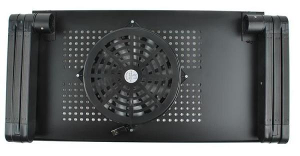 Masuta rabatabila pentru laptop inălțime reglabilă USB cooler răcire 27X48 cm  cu  Mouse  Pad negru [1]