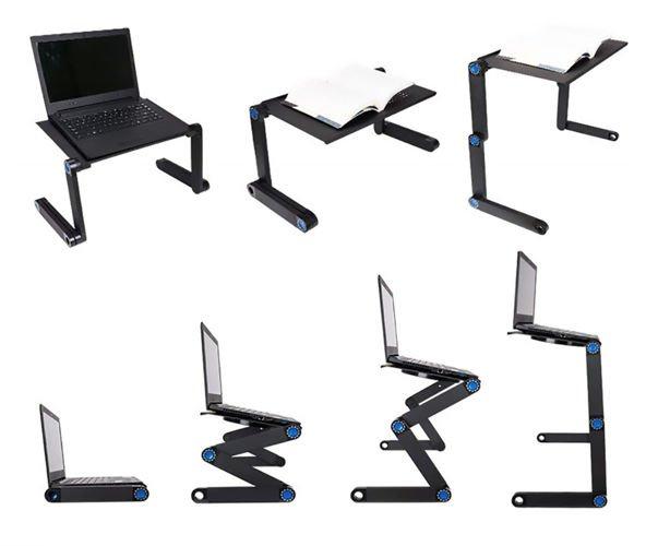 Masuta rabatabila pentru laptop inălțime reglabilă USB cooler răcire 27X48 cm  cu  Mouse  Pad negru [15]
