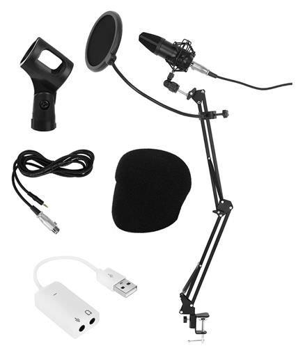 Microfon cu USB conectare PC cu stand inclus pentru Inregistrare Vocala, Streaming, Gaming, Karaoke 0