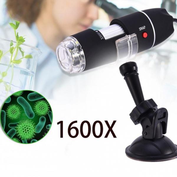 Microscop digital portabil 1600X, USB, foto-video, 8 LED-uri, zoom digital 5X [0]