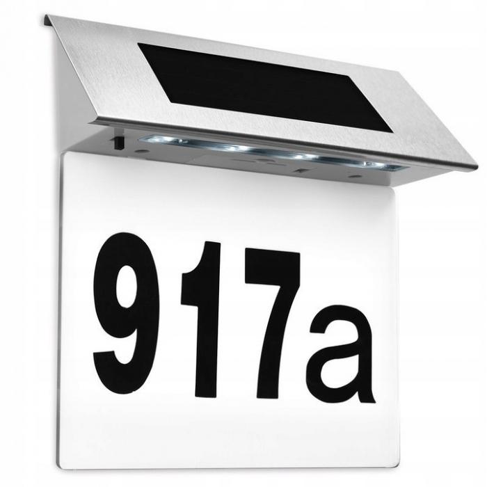 Numar Casa Led Incarcare Solara Carcasa Otel Cifre 0-9, Litere A-F [4]