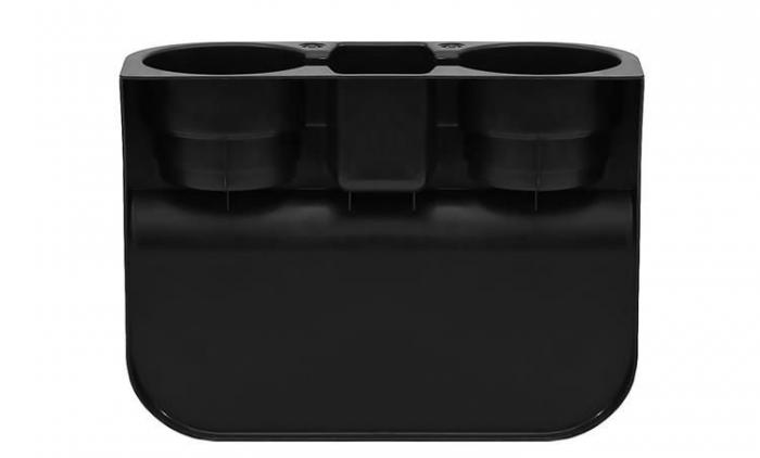 Organizator auto suport 2 pahare spatiu depozitare universal [1]