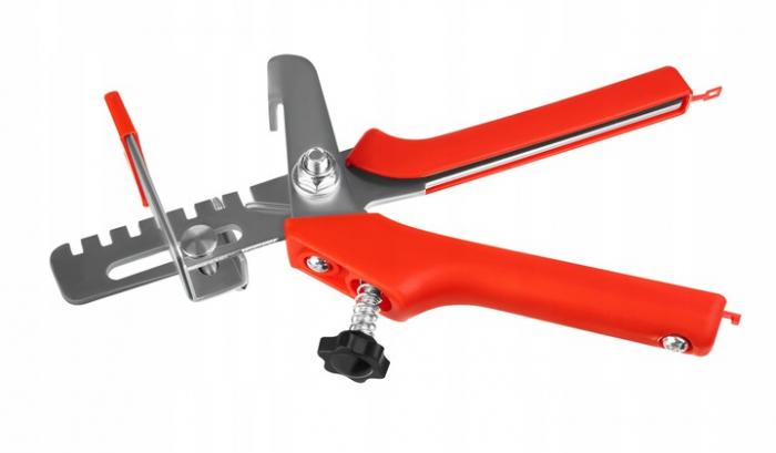 Pachet nivelare gresie  - 651 bucati contine 200 clipsuri 1 mm ,200 clipsuri 1.5 mm 100 clipsuri 2 mm 150 pene + cleste [1]