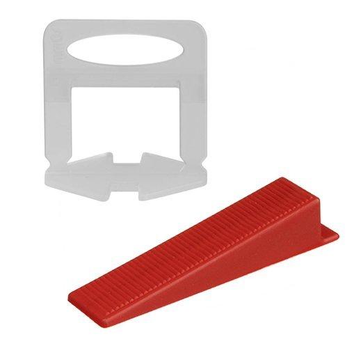 Set 500 clipsuri - 1.5 mm si 100 pene, sistem nivelare gresie [0]