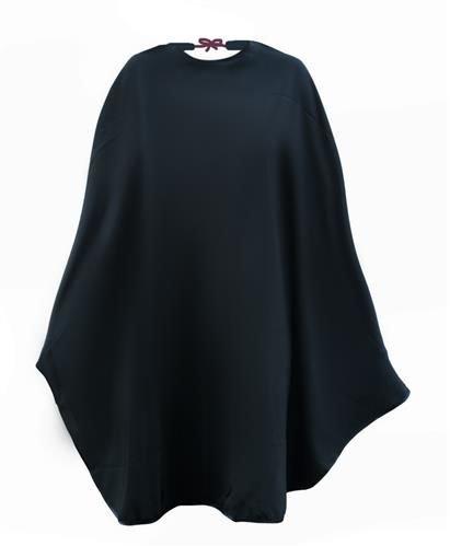 Pelerina pentru coafor, impermeabila, prindere cordon, 100x140 cm, negru [2]