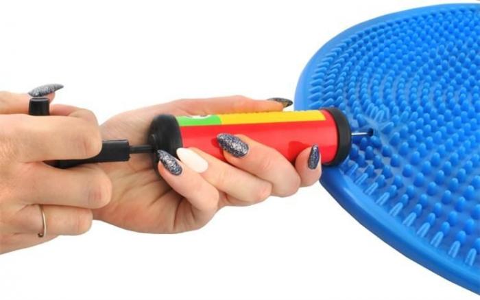 Perna pentru echilibru si masaj gonflabila, cu pompa, diametru 34 cm, albastru [7]