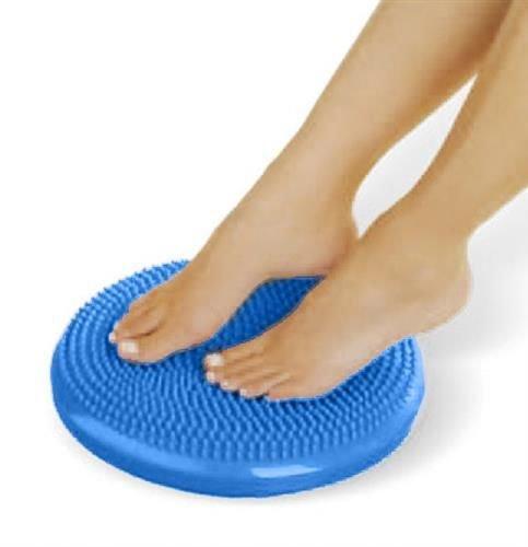 Perna pentru echilibru si masaj gonflabila, cu pompa, diametru 34 cm, albastru [1]