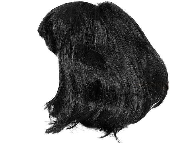 Peruca stil bob neagra cu părul scurt petreceri carnaval deghizare 0