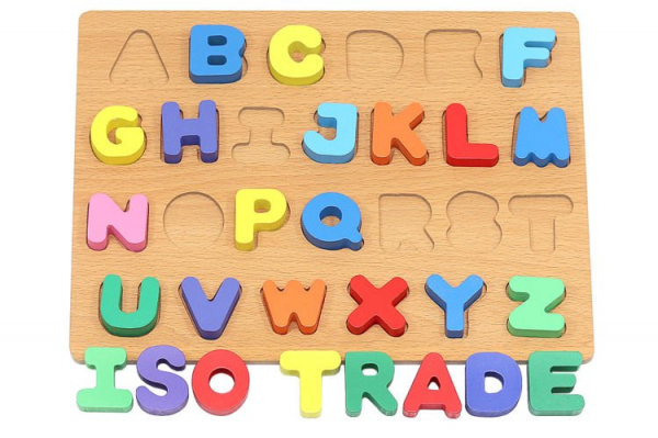 Puzzle Alfabet Complet pentru Copii ABC din Lemn Natural, Interactiv si Educativ [0]