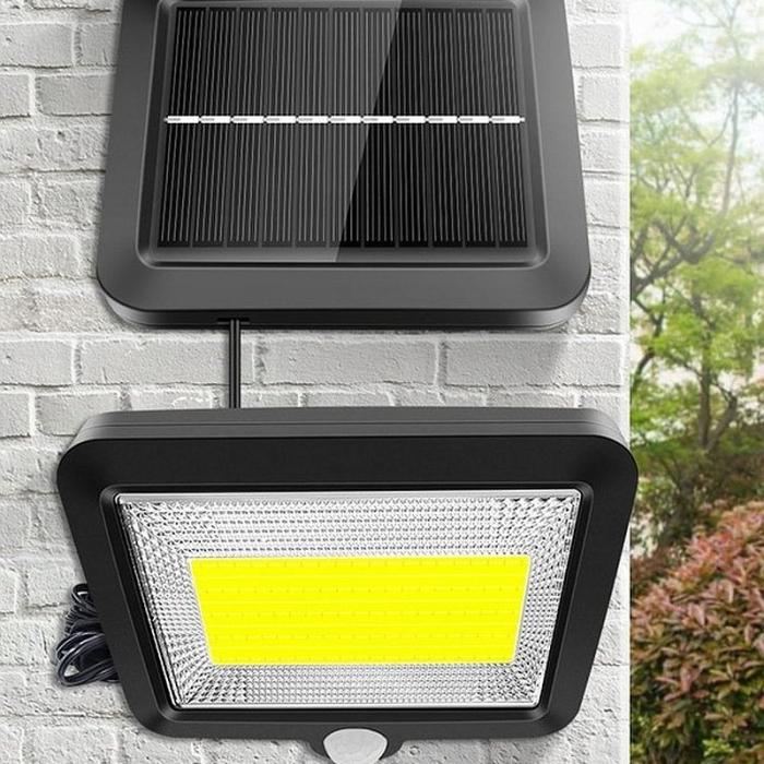 Reflector solar 100 LED-URI, Senzor de miscare  Raza 5 M, IP65 [6]