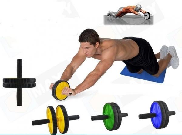 Rola abdominala dubla 2 in 1 pentru exercitii fitness culoare verde 0