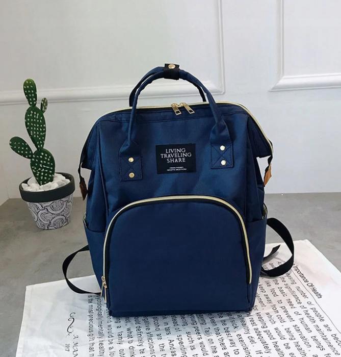 Rucsac geanta multifunctionala pentru mamici, Living Traveling atasabil la carucior, organizator articole,Albastru Inchis [2]