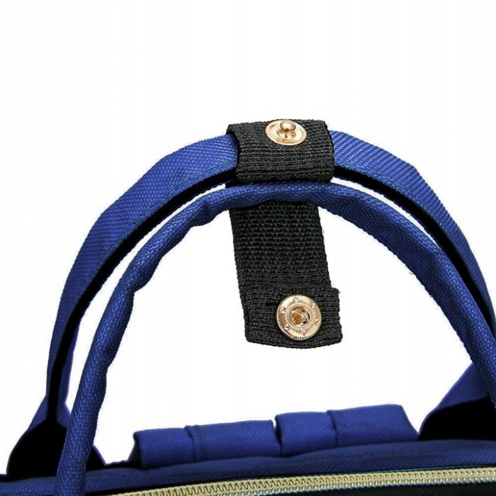 Rucsac geanta multifunctionala pentru mamici, Living Traveling atasabil la carucior, organizator articole,Albastru Inchis [5]
