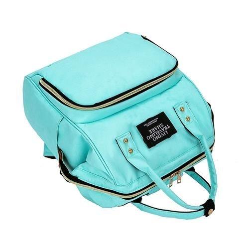 Rucsac geanta multifunctionala pentru mamici Living Traveling atasabil la carucior organizator articole bleu [3]
