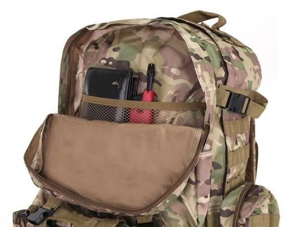 Rucsac militar 45L, 2 deschideri, 3 buzunare de camuflaj camping trekking [1]