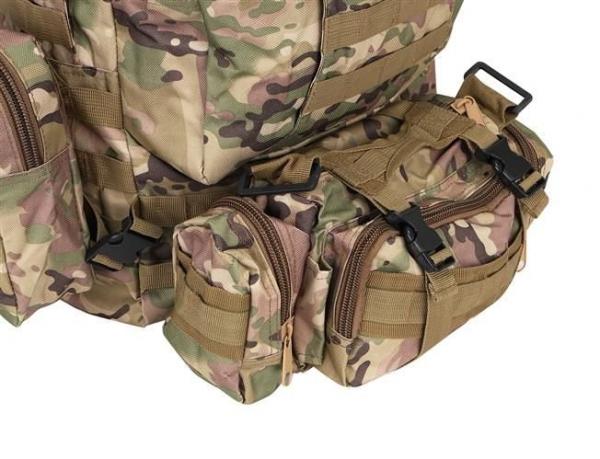 Rucsac militar 45L, 2 deschideri, 3 buzunare de camuflaj camping trekking [8]