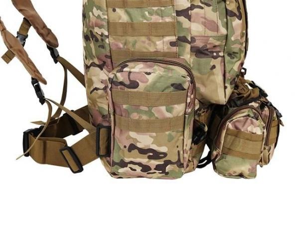 Rucsac militar 45L, 2 deschideri, 3 buzunare de camuflaj camping trekking [5]