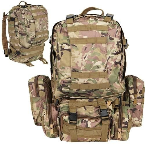 Rucsac militar 45L, 2 deschideri, 3 buzunare de camuflaj camping trekking [0]