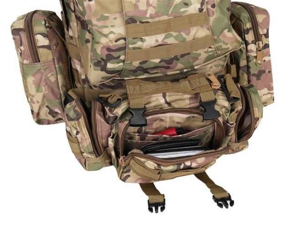 Rucsac militar 45L, 2 deschideri, 3 buzunare de camuflaj camping trekking [3]
