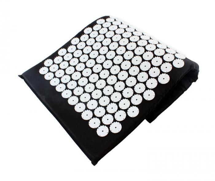 Saltea cu acupunctura si masaj 74x43 cm culoare negru [2]