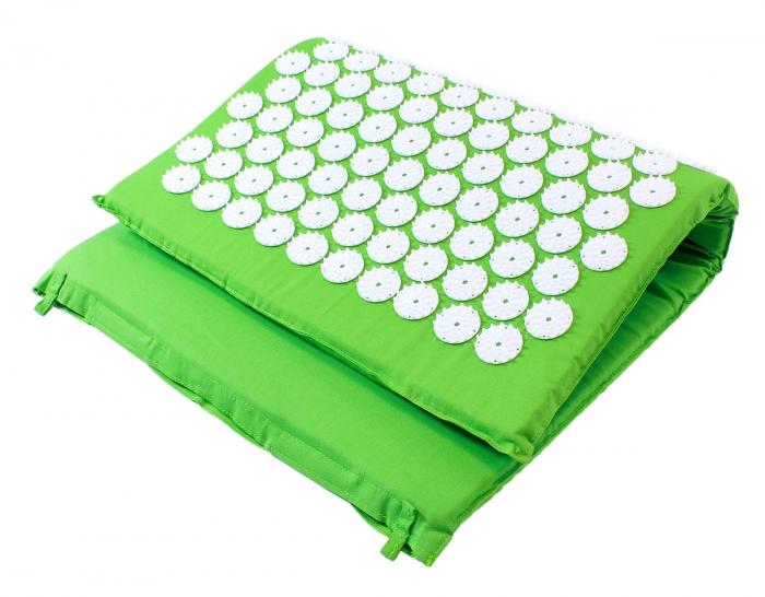 Saltea cu acupunctura si masaj ideala pentru dureri de spate relaxare oboseala 73x44 cm culoare verde [1]
