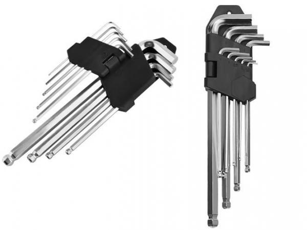 Set 10 bucati chei imbus, cu locas hexagonal, 1.5 - 10 mm 0