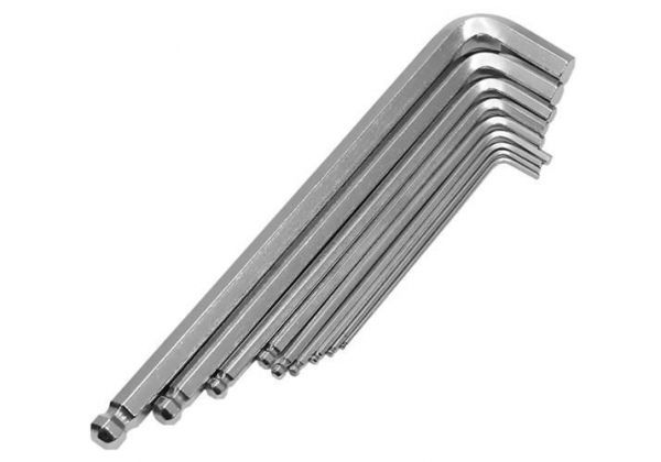 Set 10 bucati chei imbus, cu locas hexagonal, 1.5 - 10 mm 5