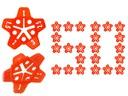 Set 100 tije refolosibile, 50 stele distantiere si 2 chei pentru rost de la 1.0 mm la 3.0 mm sistem nivelare gresie [12]