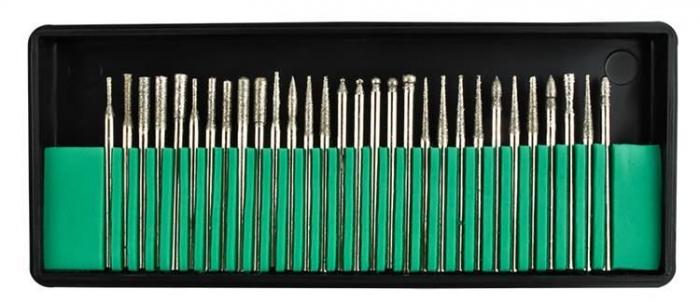 Set 30 Capete diamantate gravare frezare pentru pila electrica de unghii sau universal 2