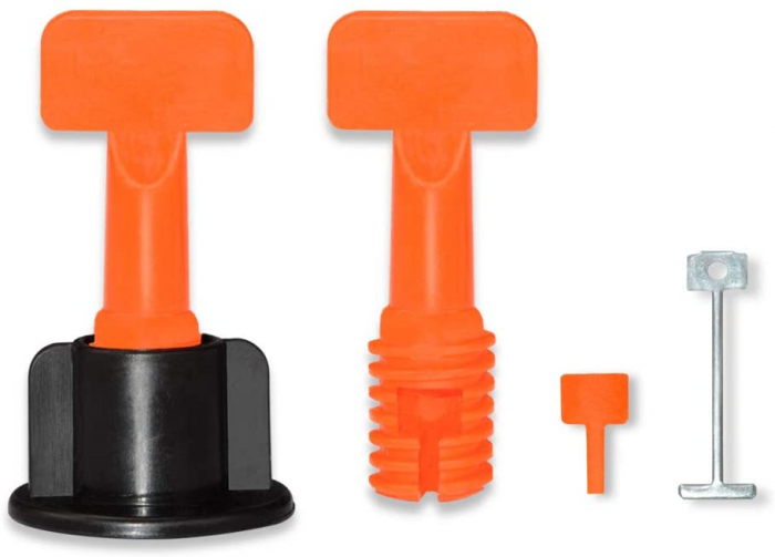 Set 50 tije metalice refolosibile, pentru rost de la 1.5 mm, sistem nivelare gresie si faianta [0]